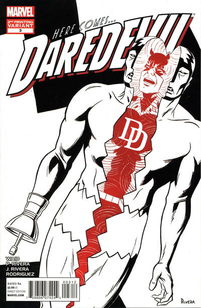 Cover for Daredevil (2011 series) #3 [2nd Printing]