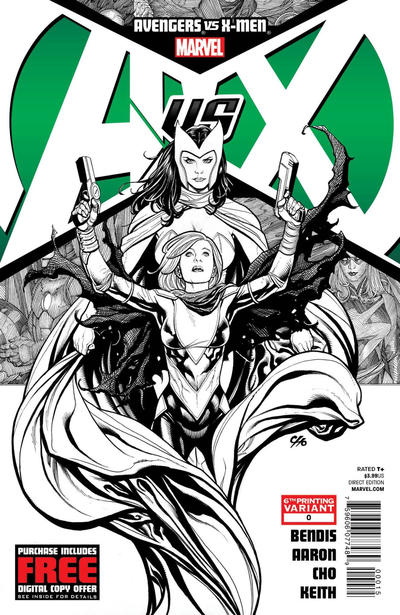 Cover for Avengers Vs. X-Men (2012 series) #0 [3rd Printing Variant]