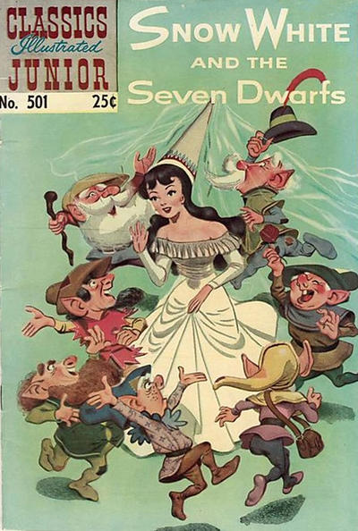 Cover for Classics Illustrated Junior (Gilberton, 1953 series) #501 - Snow White and the Seven Dwarfs
