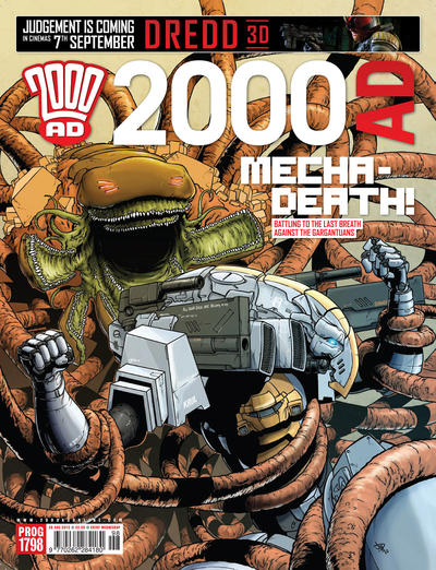 Cover for 2000 AD (Rebellion, 2001 series) #1798