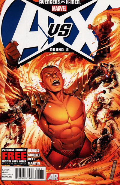 Cover for Avengers Vs. X-Men (2012 series) #8 [Avengers Team Variant]