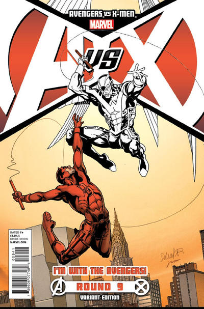 Cover for Avengers Vs. X-Men (2012 series) #9 [Stegman Sketch Variant]