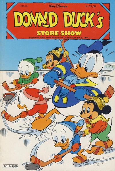 Cover for Donald Duck's Show (Hjemmet, 1957 series) #store show 1989