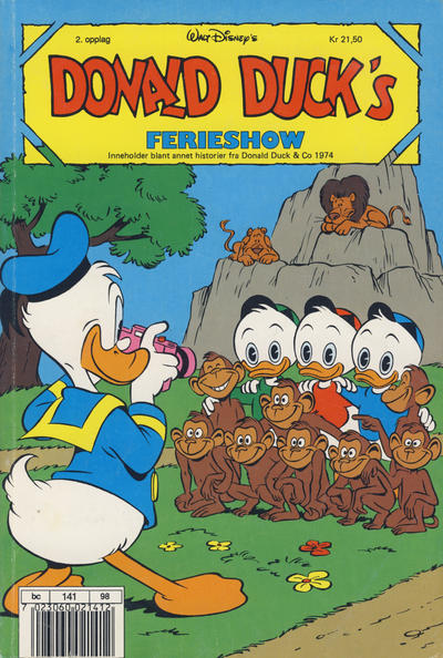 Cover for Donald Duck's Show (1957 series) #ferieshow [1990] [Reutsendelse (2. opplag)]