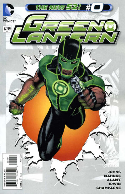 Cover for Green Lantern (2011 series) #0