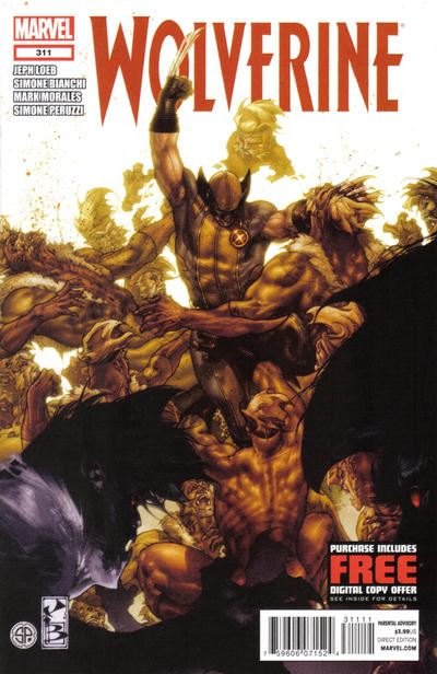 Cover for Wolverine (Marvel, 2010 series) #311