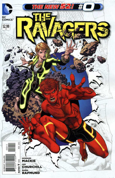 Cover for The Ravagers (DC, 2012 series) #0