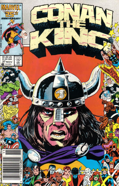 Cover for Conan the King (Marvel, 1984 series) #37 [Newsstand Edition]