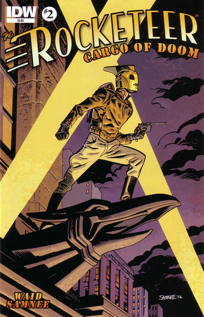 Cover for The Rocketeer: Cargo of Doom (IDW, 2012 series) #2 [Regular Cover Chris Samnee]