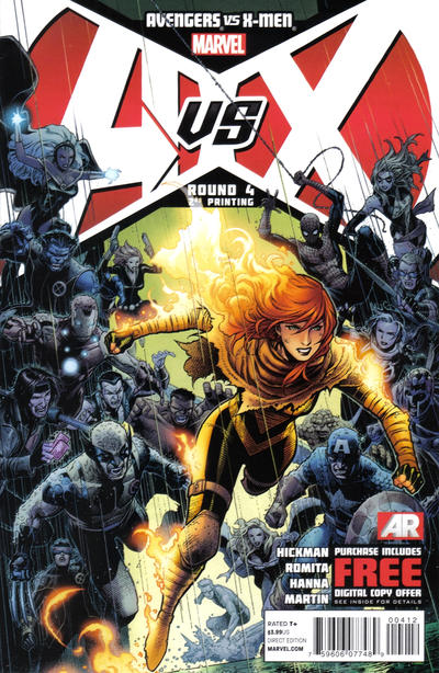Cover for Avengers Vs. X-Men (2012 series) #4 [Team Avengers Variant Cover by Mark Bagley]