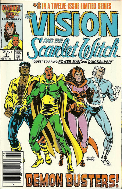 Cover for The Vision and the Scarlet Witch (Marvel, 1985 series) #8 [Newsstand Edition]