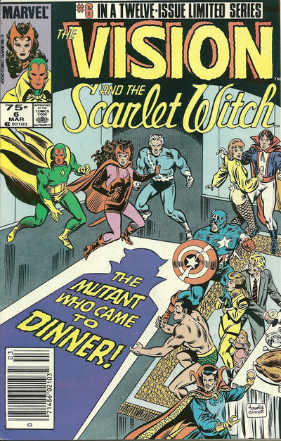 Cover for The Vision and the Scarlet Witch (Marvel, 1985 series) #6 [Newsstand Edition]