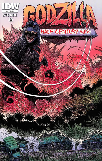 Cover for Godzilla: The Half-Century War (IDW, 2012 series) #2 [Retailer incentive]