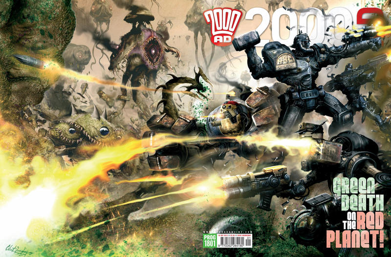 Cover for 2000 AD (Rebellion, 2001 series) #1801