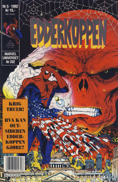 Cover for Edderkoppen (Semic, 1984 series) #5/1992