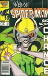 Cover Thumbnail for Web of Spider-Man (1985 series) #15 [Newsstand Edition]