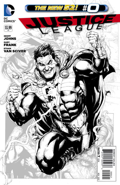 Cover for Justice League (DC, 2011 series) #0 [Gary Frank Standard Cover]