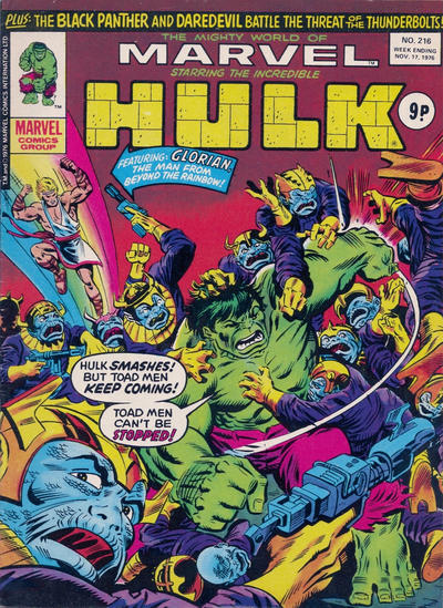 Cover for The Mighty World of Marvel (Marvel UK, 1972 series) #216