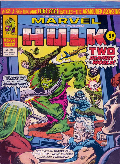 Cover for The Mighty World of Marvel (Marvel UK, 1972 series) #228