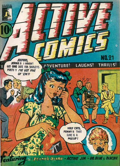 Cover for Active Comics (Bell Features, 1942 series) #21