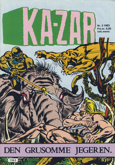 Cover for Ka-Zar (Atlantic Forlag, 1983 series) #3/1983