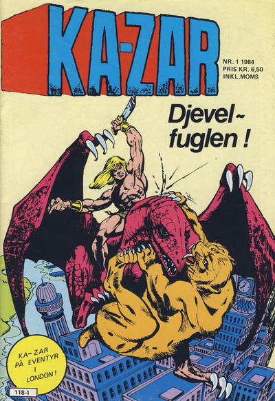 Cover for Ka-Zar (Atlantic Forlag, 1983 series) #1/1984