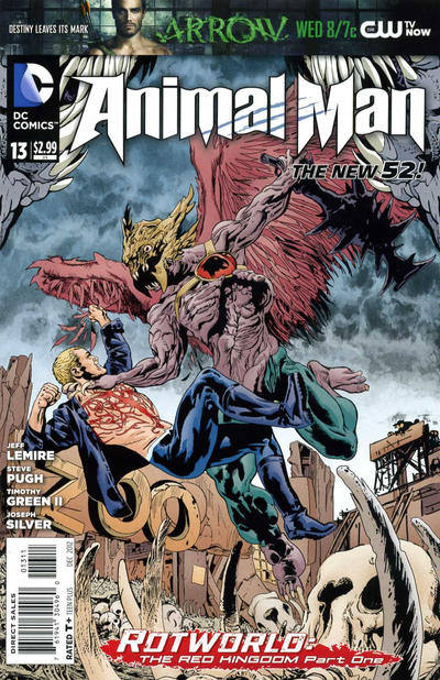 Cover for Animal Man (DC, 2011 series) #13