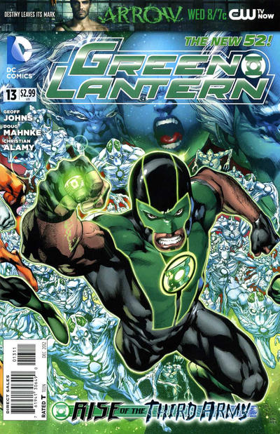 Cover for Green Lantern (2011 series) #13 [We Can Be Heroes Blank Cover]