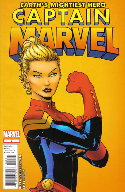 Cover for Captain Marvel (2012 series) #2 [2nd printing variant cover]