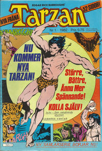 Cover Thumbnail for Tarzan (Atlantic Förlags AB, 1977 series) #1/1982