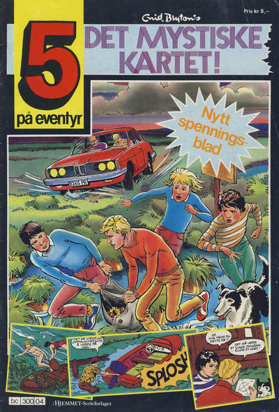 Cover for 5 på eventyr (Hjemmet, 1986 series) #[04]