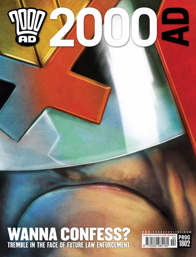 Cover for 2000 AD (Rebellion, 2001 series) #1802