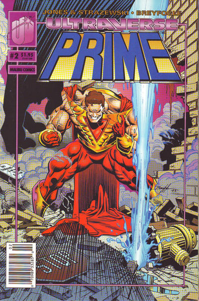 Cover for Prime (Malibu, 1993 series) #2 [Newsstand]
