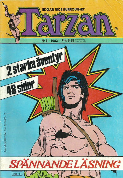 Cover for Tarzan (1977 series) #5/1983