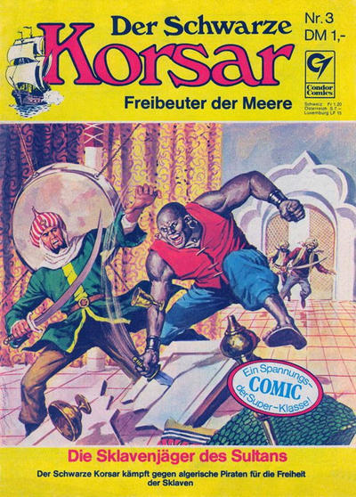 Cover for Der schwarze Korsar (Condor, 1972 series) #3