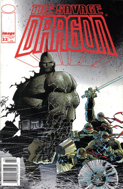 Cover for Savage Dragon (Image, 1993 series) #22 [Newsstand Edition]