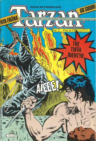 Cover for Tarzan (1977 series) #2/1982