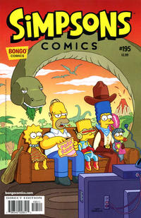 Cover for Simpsons Comics (1993 series) #195
