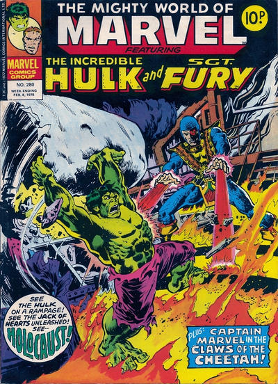 Cover for The Mighty World of Marvel (Marvel UK, 1972 series) #280
