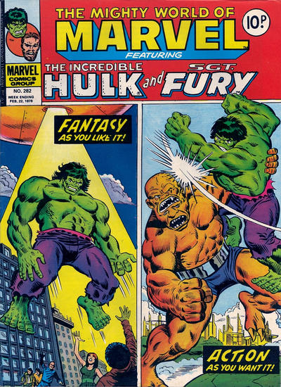 Cover for The Mighty World of Marvel (Marvel UK, 1972 series) #282