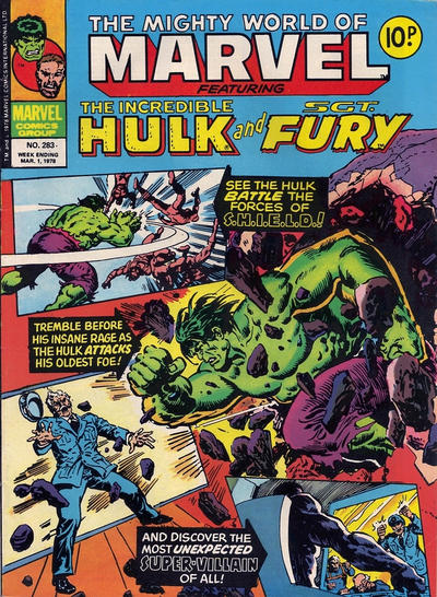 Cover for The Mighty World of Marvel (Marvel UK, 1972 series) #283
