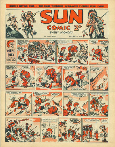 Cover for Sun Comic (Amalgamated Press, 1949 series) #92