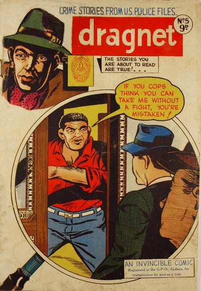 Cover for Dragnet (Invincible Press, 1954 series) #5