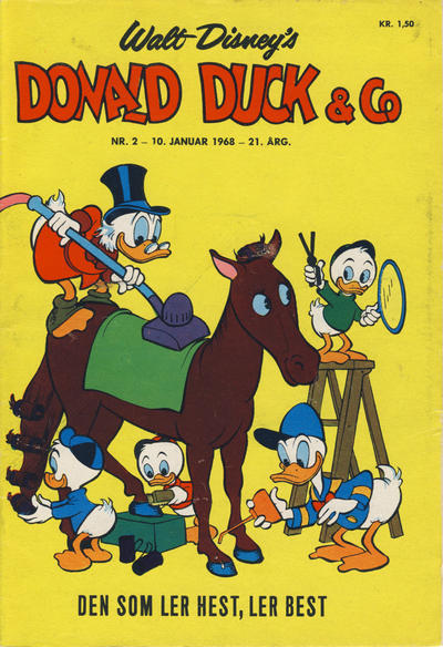 Cover for Donald Duck & Co (Hjemmet, 1948 series) #2/1968