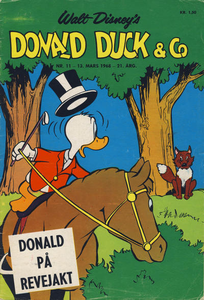 Cover for Donald Duck & Co (Hjemmet, 1948 series) #11/1968
