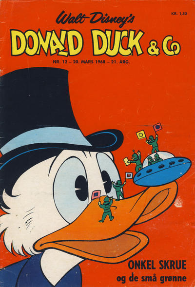 Cover for Donald Duck & Co (Hjemmet, 1948 series) #12/1968
