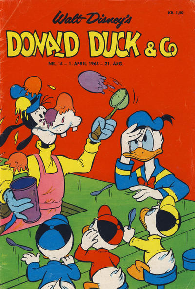 Cover for Donald Duck & Co (Hjemmet, 1948 series) #14/1968