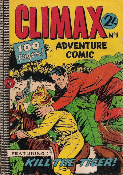 Cover for Climax Adventure Comic (K. G. Murray, 1962 ? series) #1