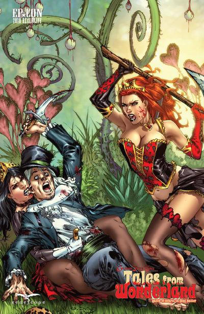 Cover for Tales from Wonderland: Queen of Hearts vs. Mad Hatter (Zenescope Entertainment, 2010 series)  [cover c]