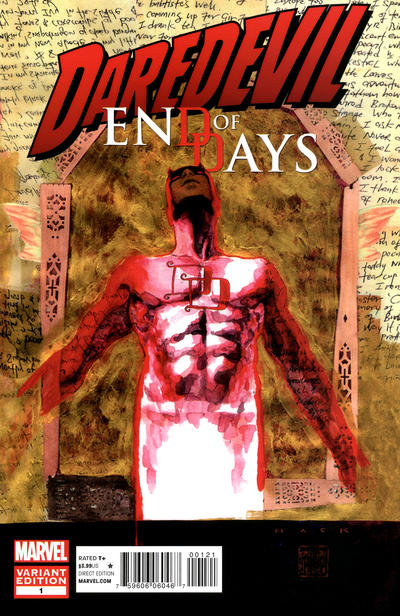 Cover for Daredevil: End of Days (2012 series) #1 [David Mack Variant]